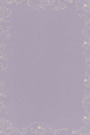 Dark purple background with watercolor paper texture and beige borde