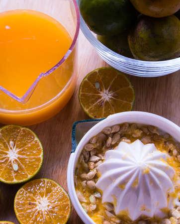 juicing: The orange  juicing. Stock Photo