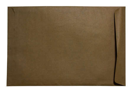 old letters: Brown envelopes on white backgrounds