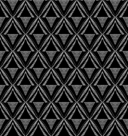 Seamless vector pattern from tribal african ornament of black and white colors. Graphical hand drawn background. Vector illustration