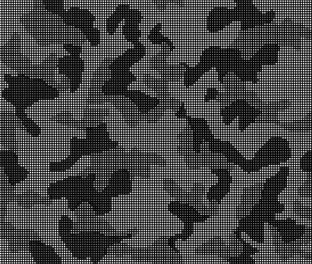 Seamless black and white pattern camouflage of dots. Vector illustration