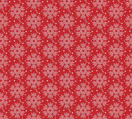 Christmas vectorillustration. Seamless pattern with snowflakes, stars and garlands.