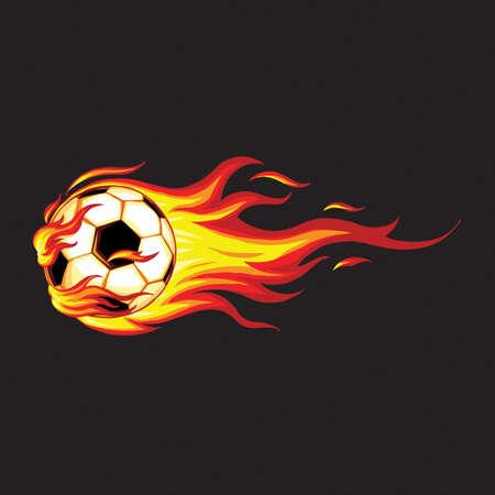 Soccer ball in fire.