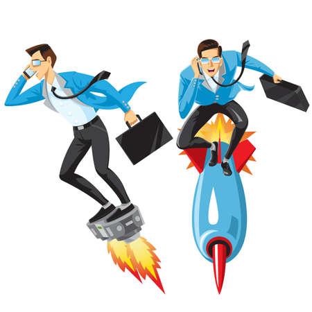 Hombre de negocios de superhéroe, Ilustración de vector