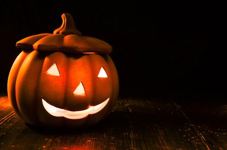 helloween: helloween pompoen Stockfoto