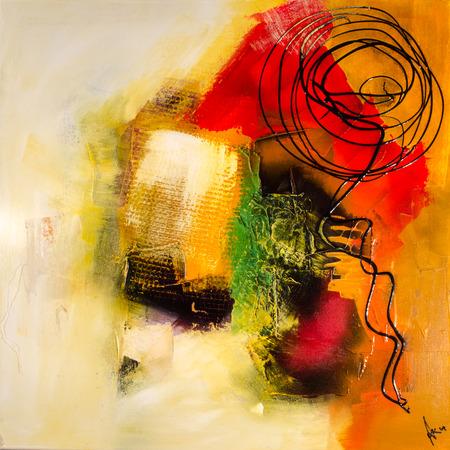 Peinture moderne abstrakt art artprint Banque d'images - 33228204