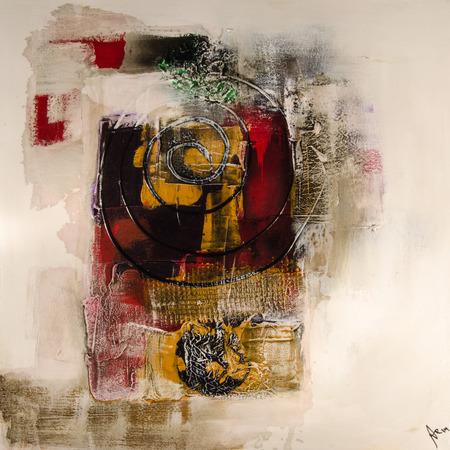 Peinture moderne abstrakt art artprint Banque d'images - 33228209