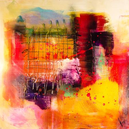 moderne Abstrakt schilderen beeldende kunst artprint