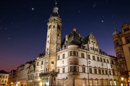 rathaus: Town Hall Altenburg Rathaus - night