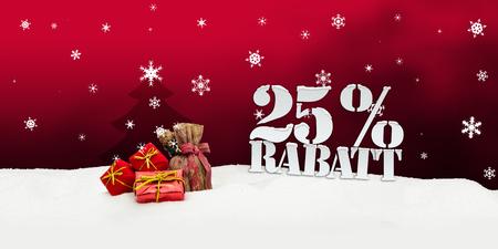 Christmas gifts 25 percent Rabatt Discount red photo