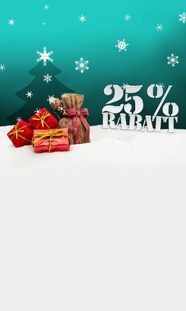 Christmas gifts 25 percent Rabatt Discount turquoise photo