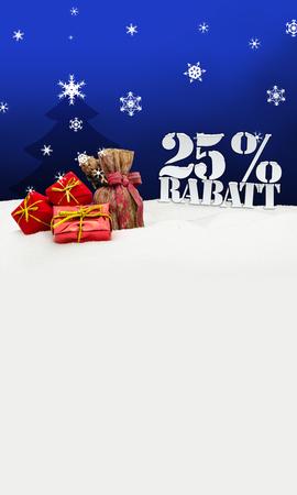 Christmas gifts 25 percent Rabatt Discount blue photo
