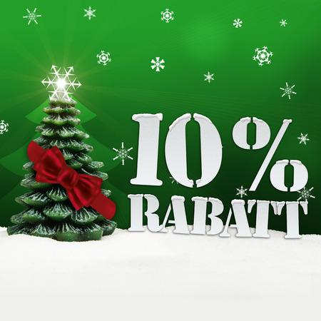 Christmas Tree 10% Rabatt discount snow green photo