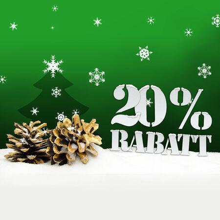 pinecone: Christmas Snow Pinecone 20% Rabatt Discount green