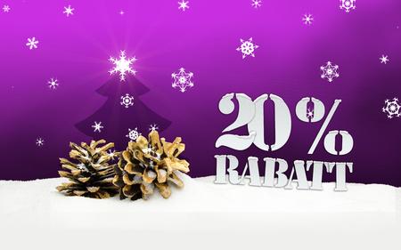 pinecone: Christmas Snow Pinecone 20% Rabatt Discount pink