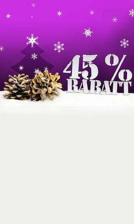 45: christmas pinecone tree 45 percent Rabatt discount pink Stock Photo