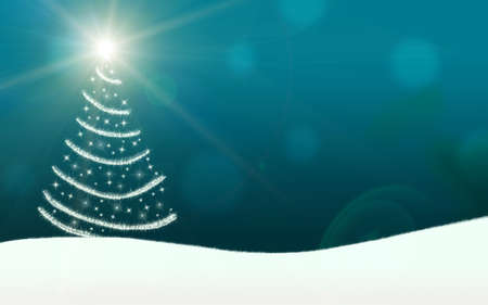 christmas tree lights stars lightning sparkling turquoise