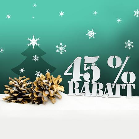 45: christmas pinecone tree 45 percent Rabatt discount turquoise