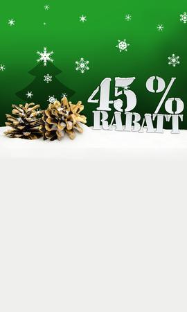 45: christmas pinecone tree 45 percent Rabatt discount green