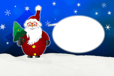 optician: Funny Santa Claus Comic with glasses balloon optician winter snow blue