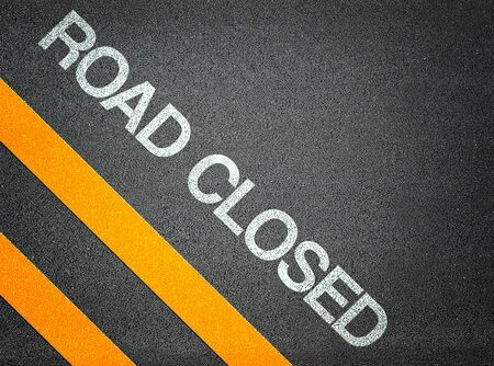 road closed: Road Closed Text Writing Road Asphalt Word Floor Ground