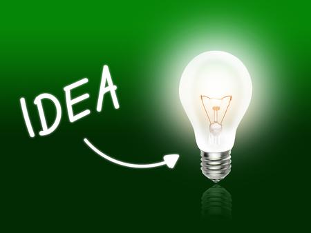 Idea Bulb Lamp Energy Light green Idea Background