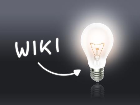 wiki: Wiki Bulb Lamp Energy Light gray Idea Background