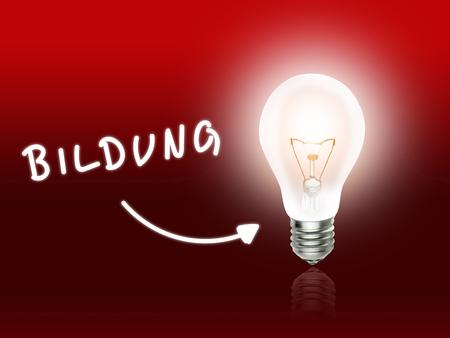 hint: Bildung Bulb Lamp Energy Light red Background Idea