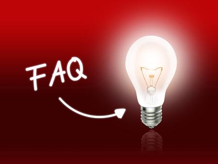 FAQ Bulb Lamp Energy Light red Background Idea