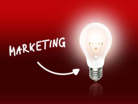hint: Marketing Bulb Lamp Energy Light red Background Idea