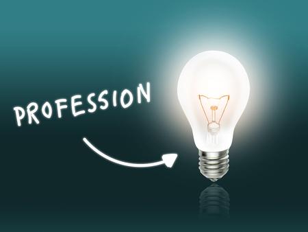 hint: Profession Bulb Lamp Energy Light turquoise Background Idea