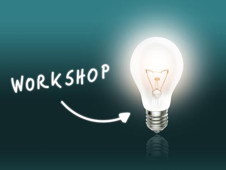 hint: Workshop Bulb Lamp Energy Light turquoise Background Idea