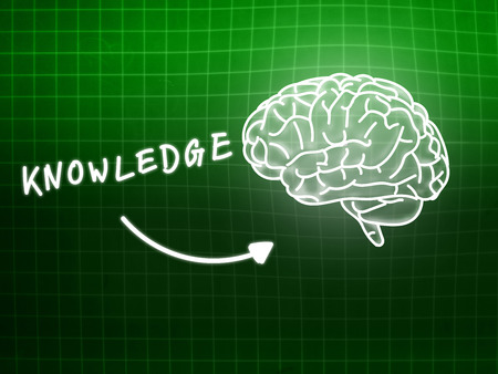 creativ: knowledge brain background knowledge science blackboard turquoise light