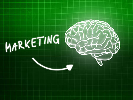 creativ: Marketing brain background knowledge science blackboard turquoise light