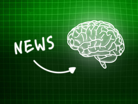 creativ: News brain background knowledge science blackboard turquoise light