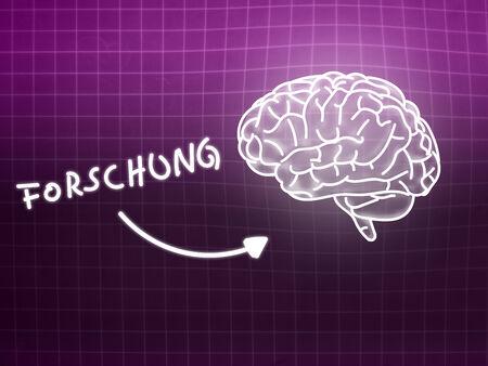 creativ: Forschung brain background knowledge science blackboard pink light