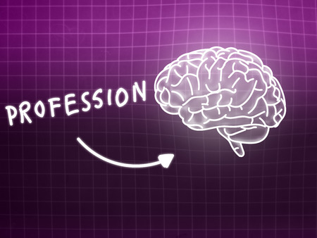 creativ: profession brain background knowledge science blackboard pink light