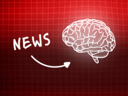 creativ: News brain background knowledge science blackboard red light