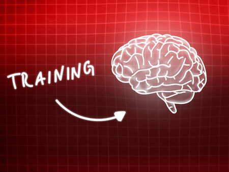 creativ: training brain background knowledge science blackboard red light