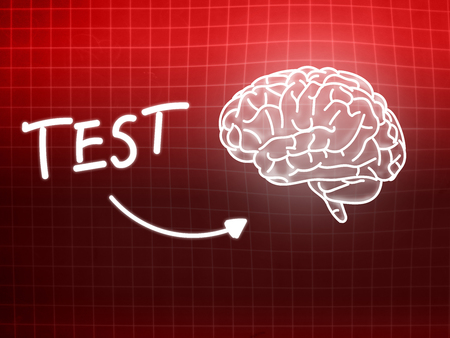 creativ: Test brain background knowledge science blackboard red light