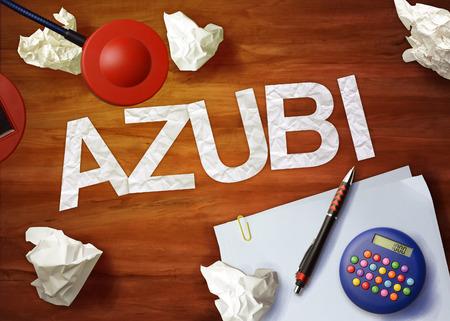 azubi desktop memo calculator office think organize