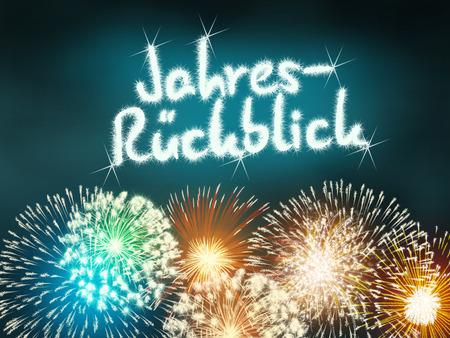 Jahresrückblick year in review firework new year  turquoise photo