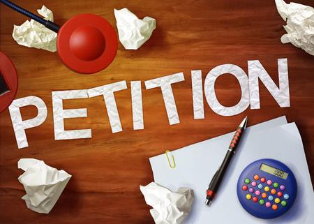 petition: petition desktop memo calculator office think organize