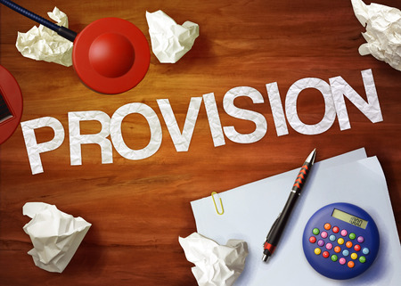 provision: provision desktop memo calculator office think organize