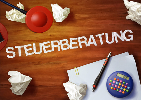 steuerberatung desktop memo calculator office think organize 版權商用圖片