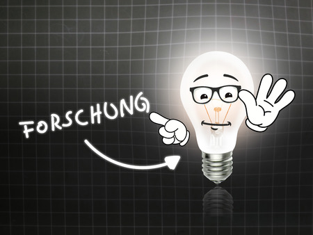 hint: Forschung Bulb Lamp Energy Light blackboard Background Idea Stock Photo
