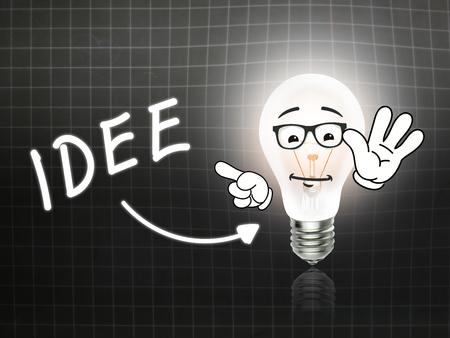 hint: Idee Bulb Lamp Energy Light blackboard Background Idea