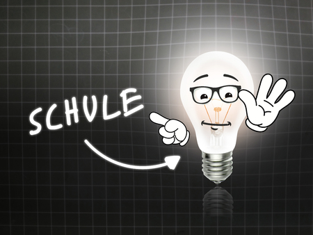 hint: Schule Bulb Lamp Energy Light blackboard Background Idea Stock Photo