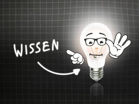 hint: Wissen Bulb Lamp Energy Light blackboard Background Idea Stock Photo