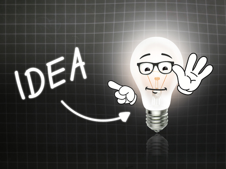 hint: Idea Bulb Lamp Energy Light blackboard Background Idea Stock Photo